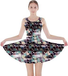 Colorful Pattern Retro Geometric Pattern Skater Dress