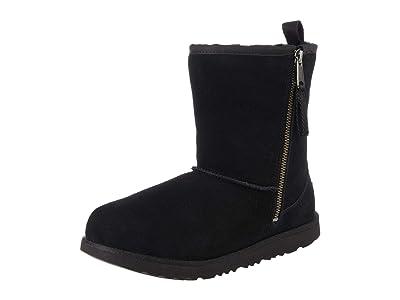 UGG Kids SINGLE SHOE Classic Short Dual Zip Boot (Toddler/Little Kid/Big Kid) (Black) Kids Shoes