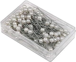 6mm Head 6.5cm Long Alfileres de cabeza redonda tipo perla Blanco 4/cm