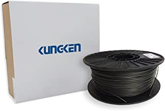 KUNGKEN FDM Composite 3D Printer Filament 1kg / 2.2lbs 1.75mm, Dimensional Accuracy +/- 0.02 mm, HDT Temperature up to 138°C, Black