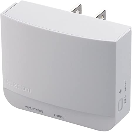 エレコム WiFi 無線LAN 中継器 11n/g/b 300Mbps コンセント直挿し WTC-300HWH