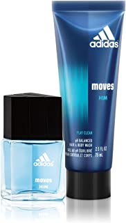Adidas Fragrance Moves for Him 2 PC - 0.5 oz Eau de Toilette, 2.5 oz Hair & Body Wash