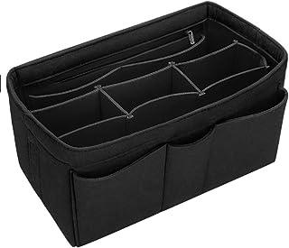 Felt Cosmetic Bag Makeup Bag Organizer Insert Bag Handbag Multi-Functional Travel Girl Toiletry Storage Bags L 1pc Black