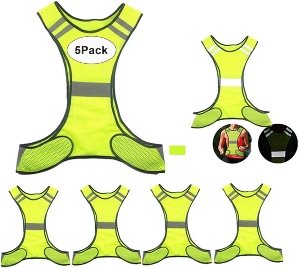 MSKBBSET Max 76% OFF Reflective Vest Running Gear - Ranking TOP8 Comfy Ultralight 2Pack