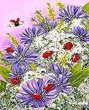 HAO Pintura al óleo de Bricolaje por números Pintura por número para decoración del hogar para Sala de Estar Ladybug 40x50cm Sin Marco