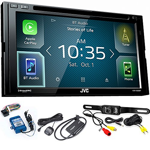 JVC KW-V830BT Compatible with Android Auto/CarPlay CD/DVD, SiriusXM Tuner, Back Up Camera, Steering Interface