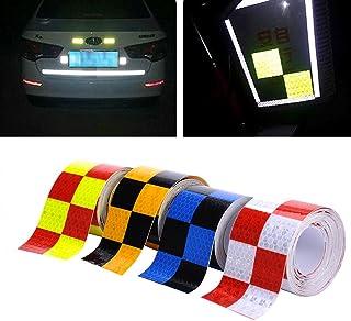 Molie 4 Farben 5cmx4m Reflektorband Sicherheitsband Warnklebeband Reflexionsfolie Reflexstreifen selbstklebend reflektierend für Fahrrad, Joggen, Auto Pkw/LKW (Red)