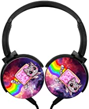 Running Wired Headset Nyan cat Wired Bluetooth Headset Unisex Over-Head Subwoofer Customized Foldable Headsets