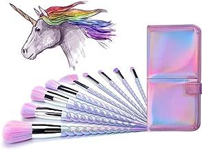 iridescent makeup brush set