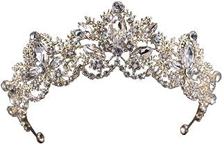 Miranda's Bridal Women's Vintage Baroque Tiara Wedding Headpiece