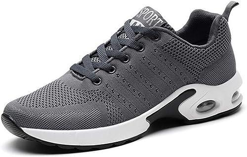 Fuxitoggo Chaussures de Sport Sport pour Hommes. Chaussures de Sport en Plein air. Tissus tissés Volants Polyvalents. Absorption des Chocs légère. (Couleuré   gris, Taille   43)  Envoi gratuit pour toutes les commandes