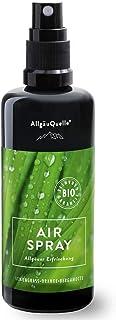 BIO-Airspray mit 100% Bio-Öle Allgäuer Erfrischung Lemongras Orange Bergamotte 100ml. Natürlicher BIO-Raumduft m. ätherische Öle. BIO-Raumspray naturrein und biologisch.