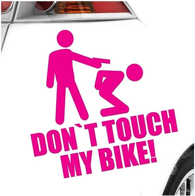 Kiwistar Dont Touch My Bike 10 X 10 Cm In 15 Colours Neon Chrome Sticker Auto