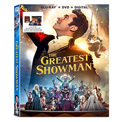 The Greatest Showman (Blu-ray + DVD + Digital) with Exclusive 36-page Book: Behind-The-Curtain, Concept Art and Set Photos