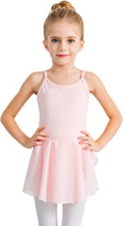 STELLE Girl's Cotton Camisole Dress Leotard for Dance, Gymnastics and Ballet(Toddler/Little Girl/Big Girl)