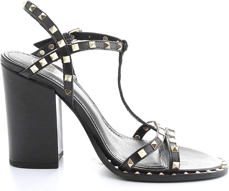 Ash Women's S19LIPS01BLACK Black Leather Sandals