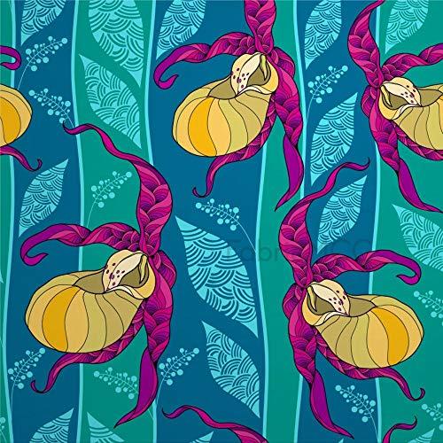 Juego de pegatinas decorativas para azulejos, diseño de organismo, ilustración, artes visuales, 10,6 x 10,1 cm, vinilo adhesivo para suelo, 12 unidades, resistente al agua, para decoración del hogar