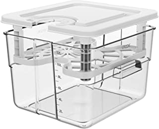 Sous Vide Container for Anova Culinary Anova Nano Joule Instant Pot, 12.6 Qt Sous Vide Containers with Lid and Rack Sous V...