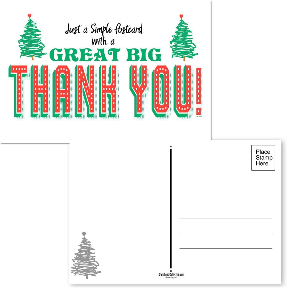 Ranking TOP15 Thank You shipfree Holiday Postcards - 50 Sea x 4 6