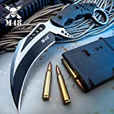 M48 Liberator Falcon Karambit Knife and Sheath - Cast Stainless Steel Blade, Black Oxide Coating, Injection Molded Nylon Handle - Length 10'