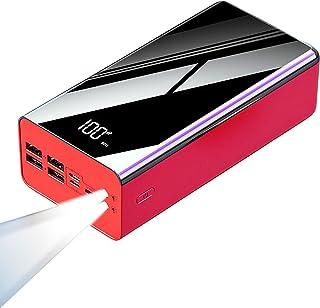 Power Bank 100000 mah bärbar laddare, bärbar batteriladdare, 2.1A snabb laddning extern batteriladdare med LCD-skärm, 4 US...