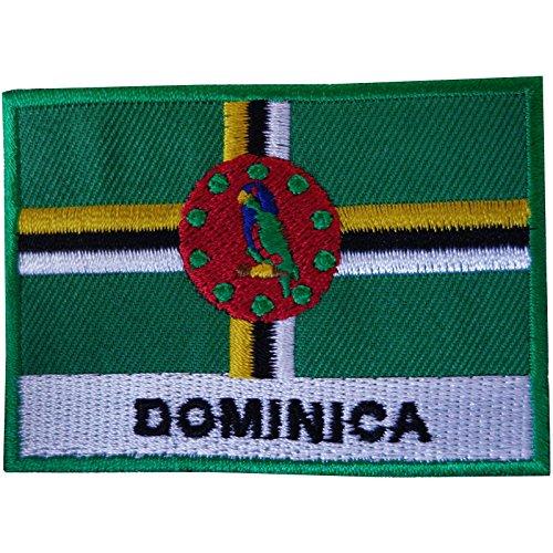 Dominica Flagge Patch Eisen nähen auf Kleidung T Shirt Tasche Karibik bestickt Badge