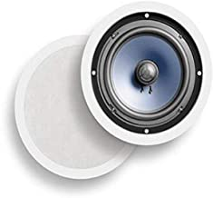 "Best Polk Audio RC80i 2-way Premium In-Ceiling 8"" Round Speakers, Set of 2 Perfect for Damp and Humid Indoor/Outdoor Placement - Bath, Kitchen, Covered Porches (White, Paintable Grille) Review"