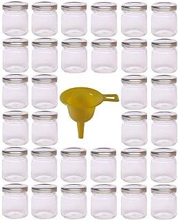 comprar comparacion Viva Haushaltswaren - Tarros de Cristal para Mermelada de tamaño Mini (32 Unidades 53 ml Incluye Embudo y Tapa Plateada)