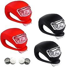 4 Stück Kinderwagen Licht LED für Kinderwagen LED Blinklicht Clip-On Silikon Leuchte Lampe Taschenlampe für Kinderwagen, Läufer, Walker 2X LED Weißlicht und 2X LED Rotlicht
