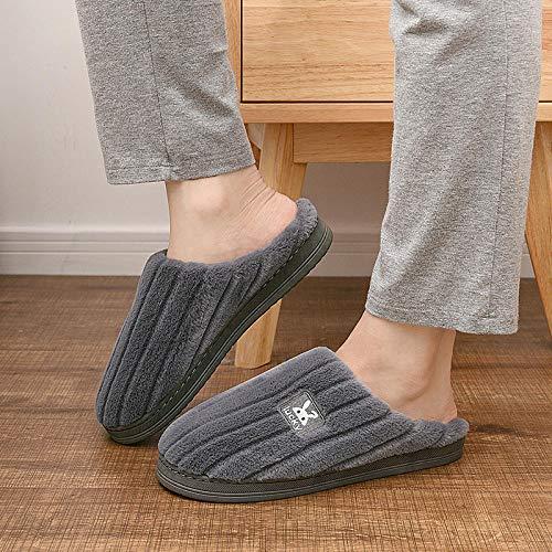 Hausschuhe Damen Herren PlüSch Pantoffeln,rutschfeste warme Hausschuhe, Hauspaar...