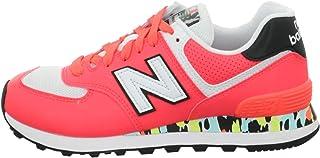 New Balance 574 Cu2 Sneaker Donna Corallo, 41, Rosso