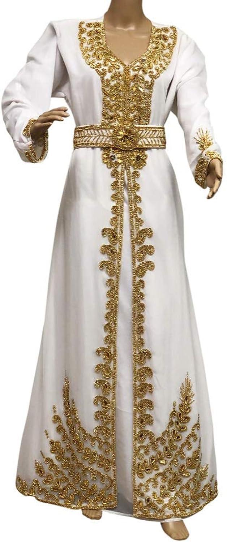 Dubai kaftan mgoldccan caftan women's dress abaya jilbab wedding dress maxi