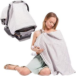Stillschal Ultra Safe Einkaufswagen S/äugling F/ür M/ütter Baby Privatsph/ä Leichte Hellgrau weiche Babytrage zum Mehrfachgebrauch Stillen Abdeckung