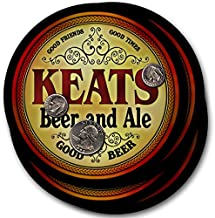 ZuWEE Brand Classic Beer & Ale Coaster Set Personalized with the Keats Family Name