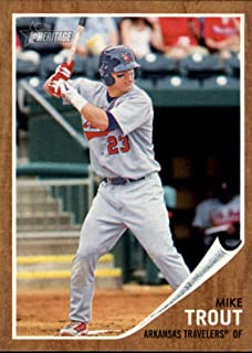 2011 Topps Heritage Minors #44 Mike Trout - Arkansas Travelers/Angels (Prospect/Rookie Card)