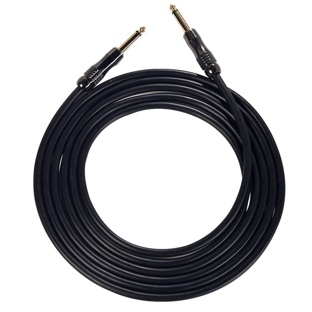 "Rayzm Guitar Cable-3 Meters Noiseless Guitar//Bass Cord,1//4/"" Braided Angled Male"