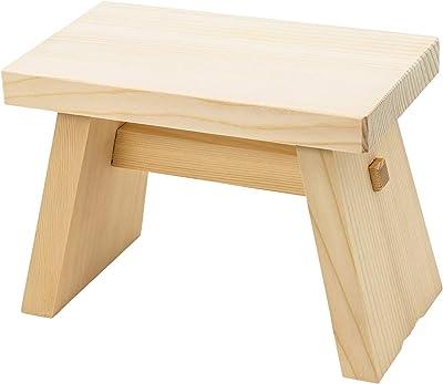ウメザワ 木製 風呂椅子 角 特大 31×18×22cm 日本製 401069