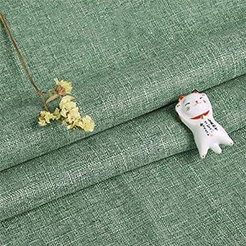 ONECHANCE Tela de lino de algodón de arpillera mantel de lona gruesa bricolaje sofá cubre color sólido por el metro Color Verde Size 1 metro: Amazon.es: Hogar