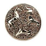 Celtique Cheval Broche Bijoux Bronze Manuel Moyen-âge, diam