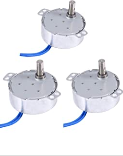 Synchronous Synchron Motor,Turntable motor,110V motor, 50/60Hz AC 100~127V 4W 2.5-3RPM/MIN CCW/CW For Hand-Made, School Project, Model (2.5-3RPM) (3PCS)