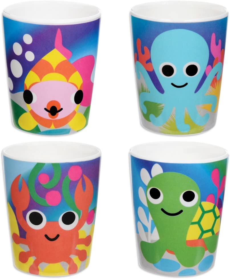 French Free Shipping New Bull Kids Juice Cup Set Anim Transition of BPA-Free - 4 Free Shipping New