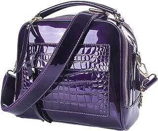 Women's Patent Leather Purses and Handbags Crossbody Satchels Shoulder Bags Tote Bag
