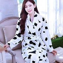 Dames Badjas,Lange Badjas Flower Flannel Warme Kimono Bad Bruidsbruid Bruidsmeisje Badjas Badjas laies Nightwear, Style 5,S