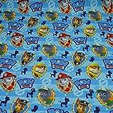 Softshell Paw Patrol Nano Hundeköpfe, blau (25cm x 145cm)
