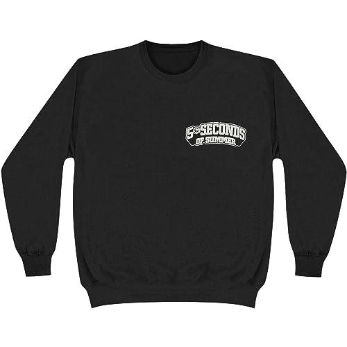 9140dee4802b 5SOS 5 Seconds of Summer Skull Logo Crewneck Pullover Sweatshirt