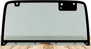 Make Auto Parts Manufacturing Non-Heated Rear/Back Glass w/10 Holes Green Tinted For Wrangler YJ 1987-1995