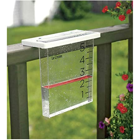 Garden Waterproof Outdoor Rain Gauge for Yard Farm Hapeisy 2pcs Capacity Rain Gauge Easy To Read 9.6 Inches Tall A Reliable and Accurate Rainfall Gauge