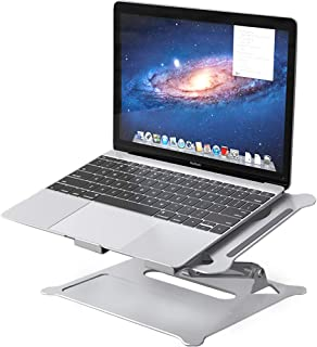 Laptop Stand, Multi-Angle Laptop Holder with Heat-Vent to Elevate Laptop, Adjustable Notebook Stand for Laptop up to 17 inches, Compatible for MacBook/Surface Laptop and so on