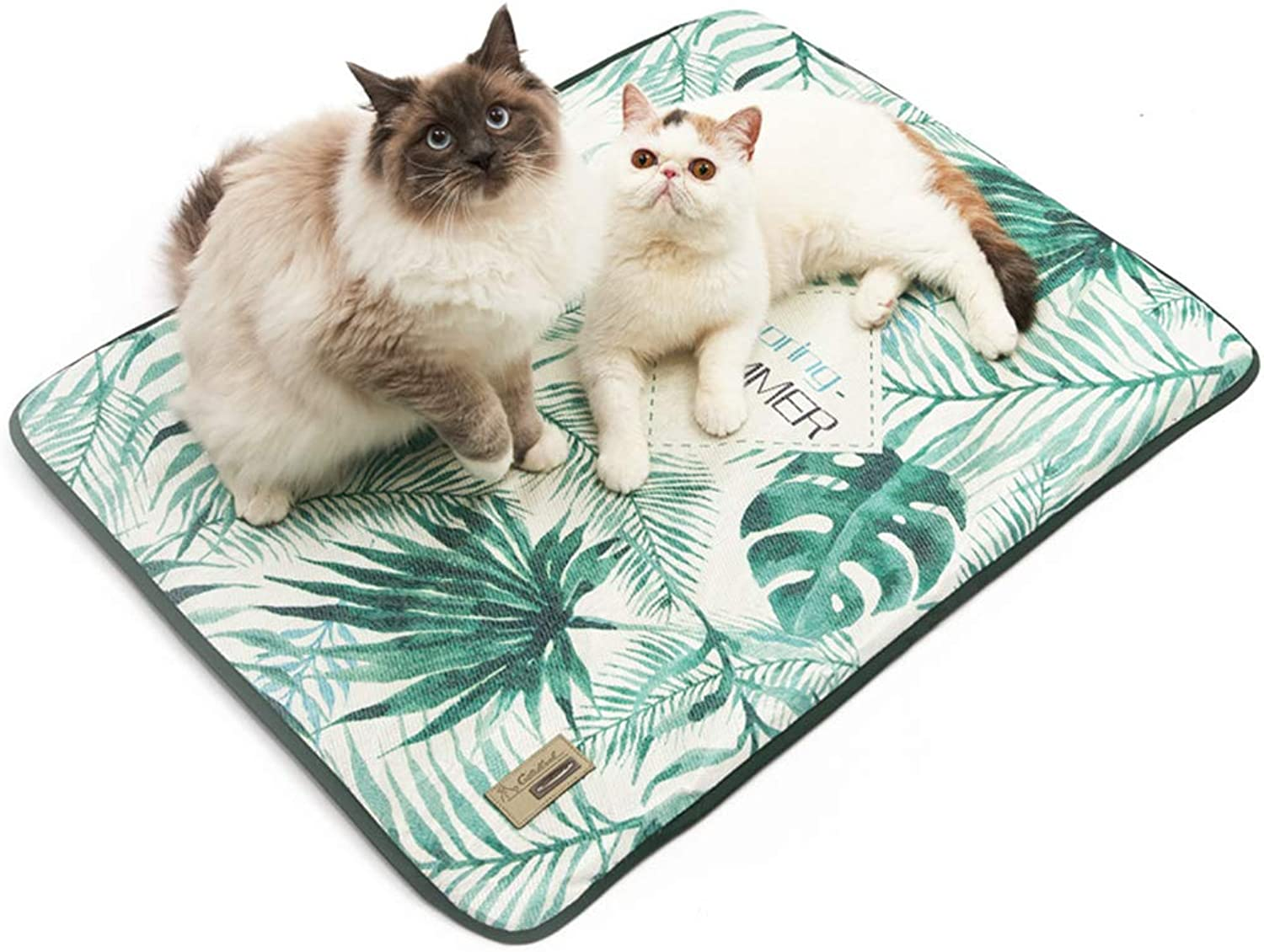Pet Cooling Mat, Self Cooling Dog Mat Ice Silk Pet Pad for Dogs and Cats in Hot Summer Heat Summer Cooling Mat 4 Sizes to Satisfied Different Needs