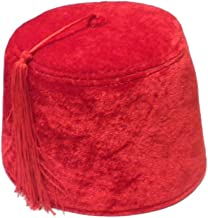 Red Velvet Shriner Military Fez with Tassel
